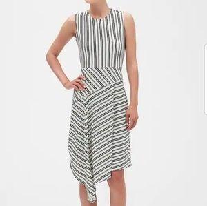 Banana Republic Striped Asymmetrical Dress 2019